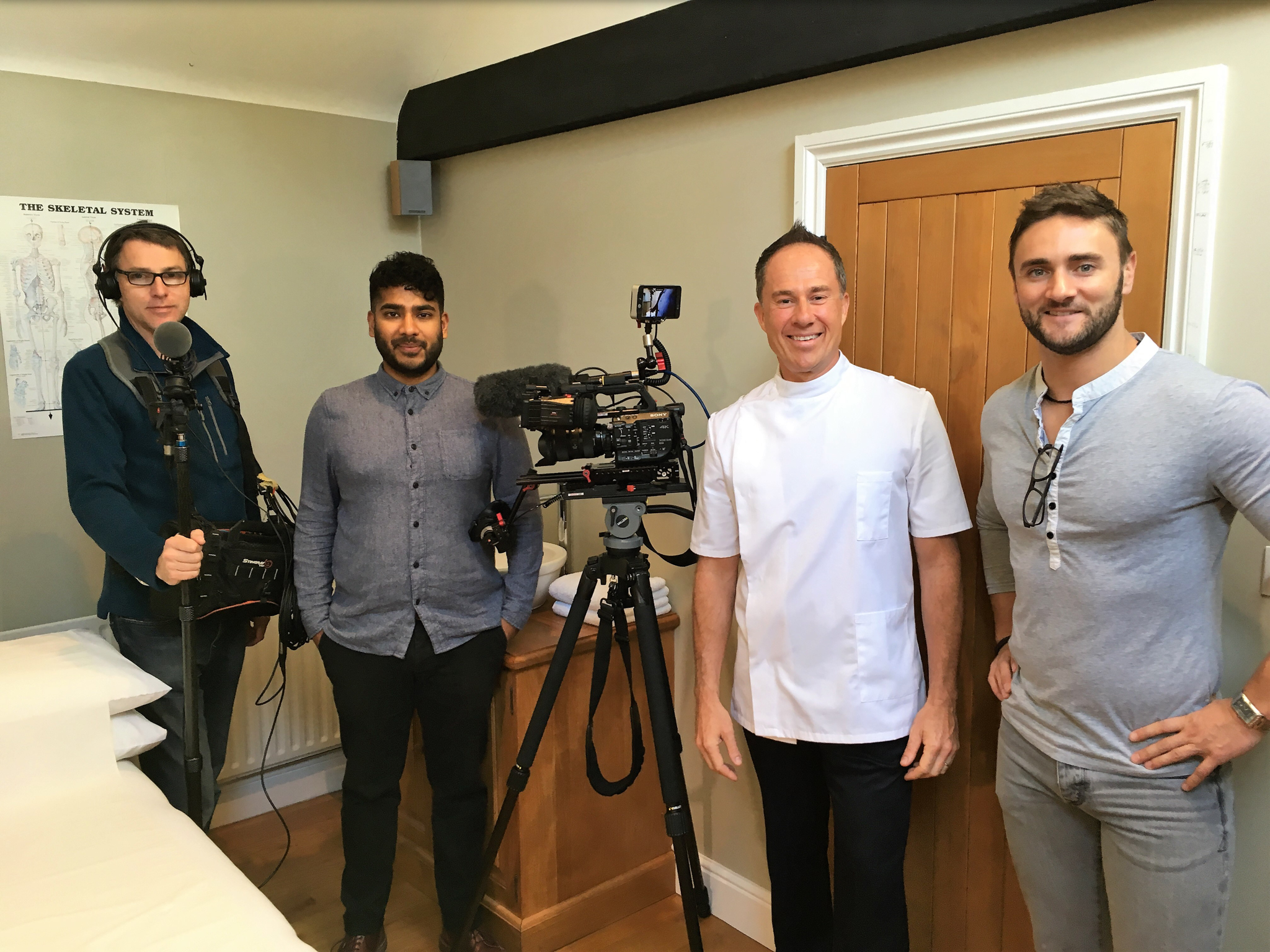 Paul with the CH4 TV crew
